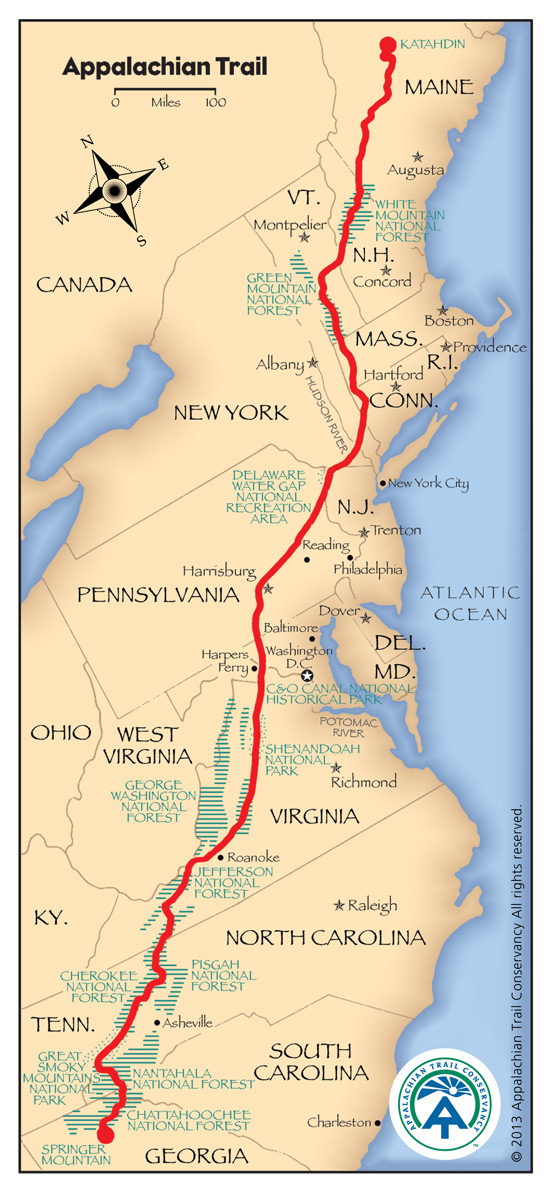 appalachian trail map 555x1192px