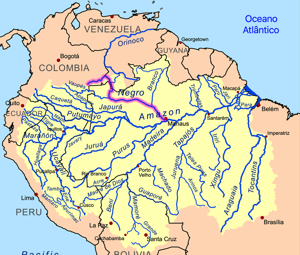 rio negro amazon river map
